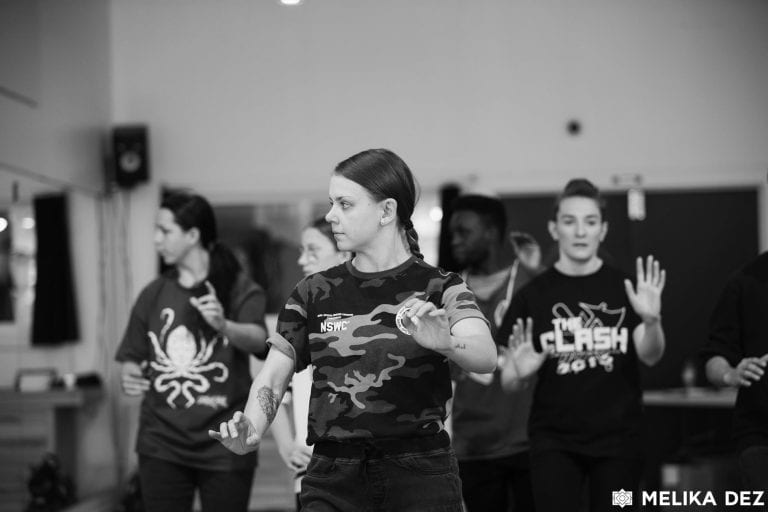 Photography of dancers at The Clash IV Workshops