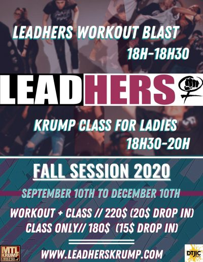 LeadHers Krump Class flyer Fall 2020